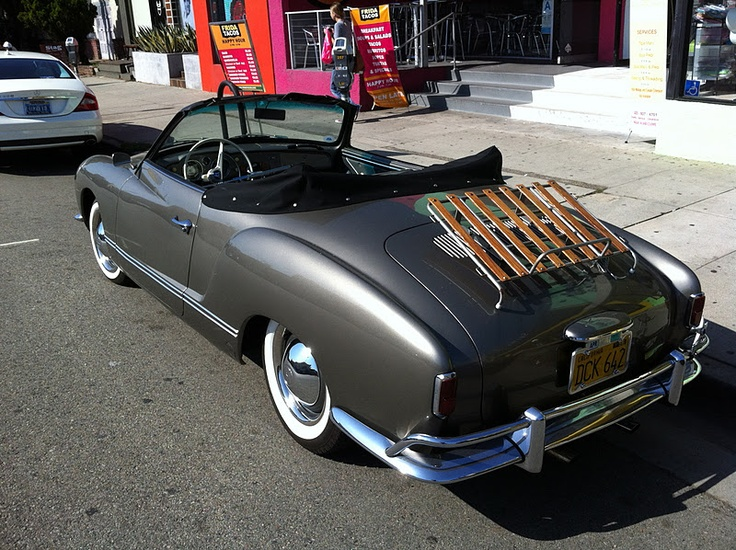 Melrose & Spaulding: This classic Volkswagen Karmann Ghia, spotted on Melrose today, is a great car to jump out of and complete your prep look.