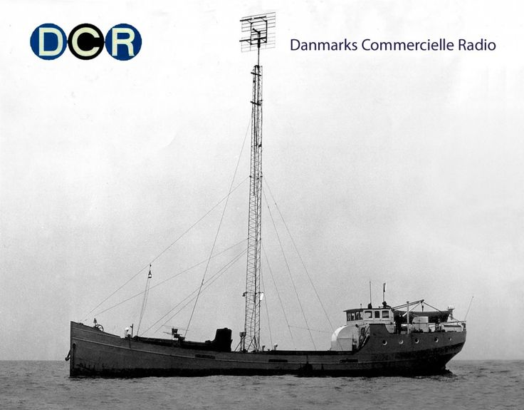 Danmarks Commercielle Radio broadcasting from an old Dutch coaster, 1962