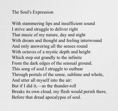 The Soul's Expression - Elizabeth Barrett Browning