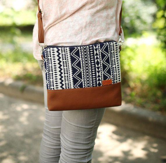 Handbag Boho Crossbody bag Womens gift Vegan Purse Gift for her Shoulder bag Faux Leather bag Vegan gift Bags and Purses