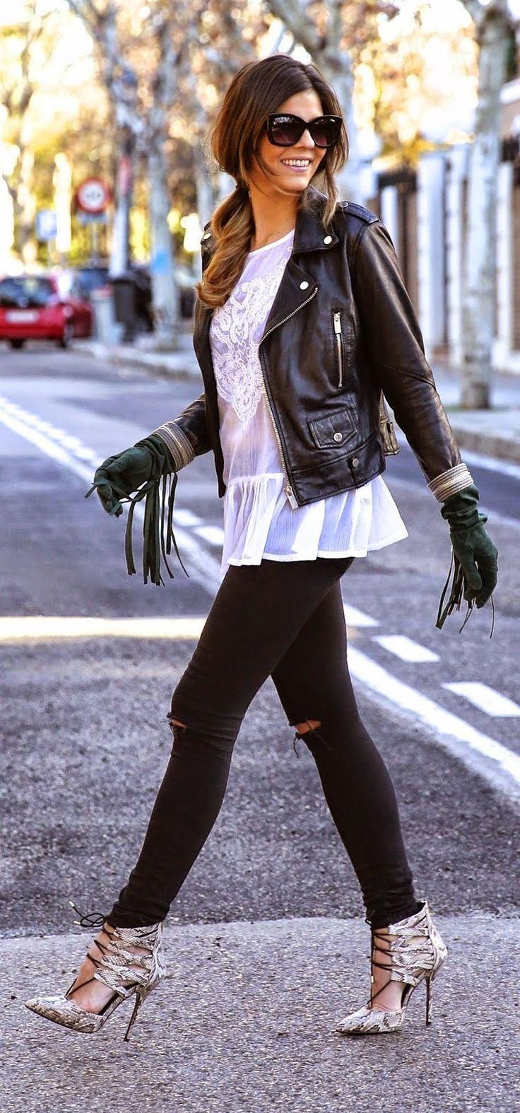 Leather Moto , Fringed