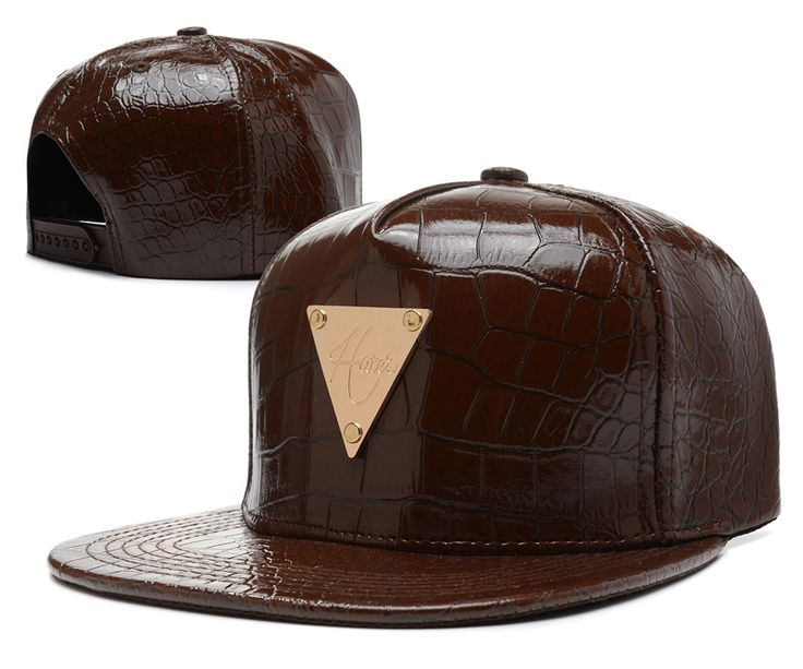 New Hot!HATER Snapback Hats adjustable Baseball Cap Hip-Hop caps All leather Brown 069