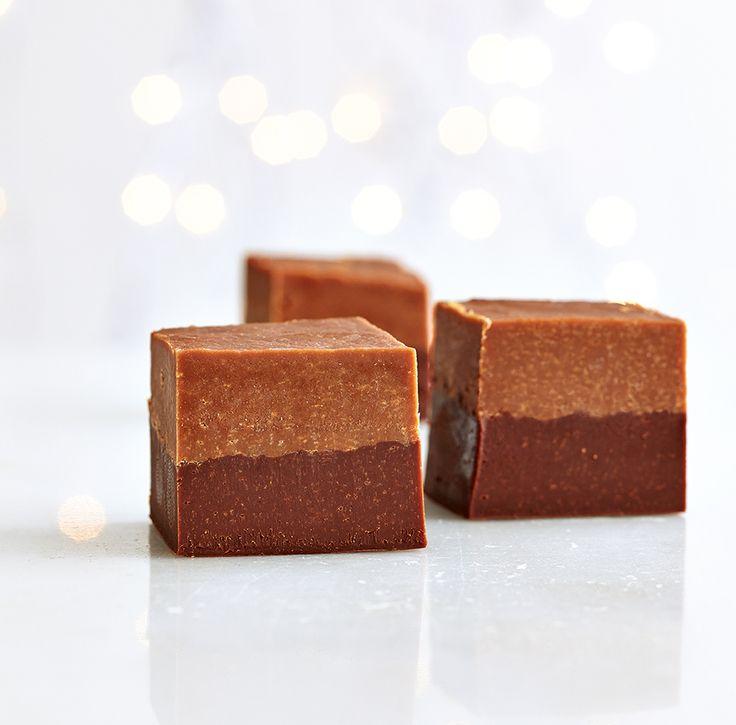 Dark and Milk Chocolate Fudge