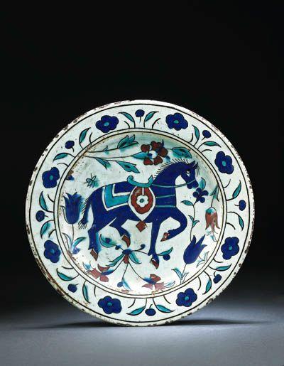 An Iznik pottery dish OTTOMAN TURKEY, SECOND HALF 17TH CENTURY