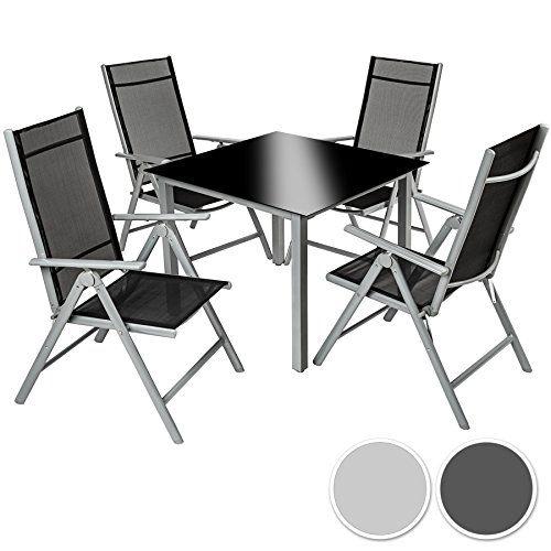 TecTake Aluminium 41 salon de jardin ensemble sièges meubles ...