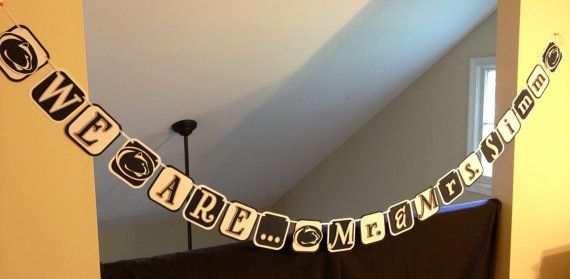 Our Personalized Wedding Banner!  Love it!!!!