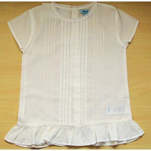 Blusa Valeria con pliegues de niña Ñaco