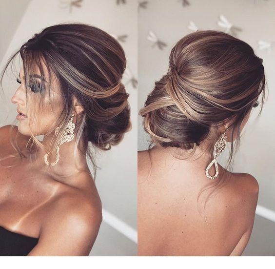 Lovely wedding hairstyle idea