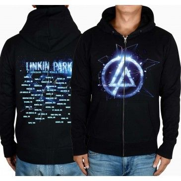 Linkin Park 3D Image Logo Personalized Zip Up Hoodies