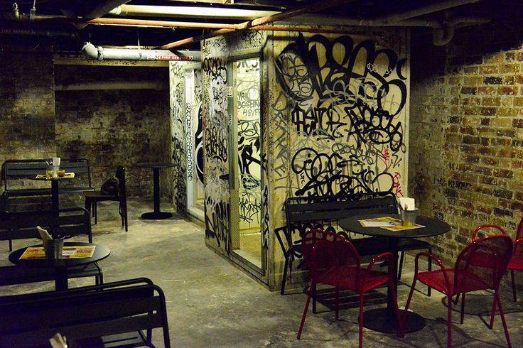 Greaserbar Fortitude Valley's graffitied cold store rooms