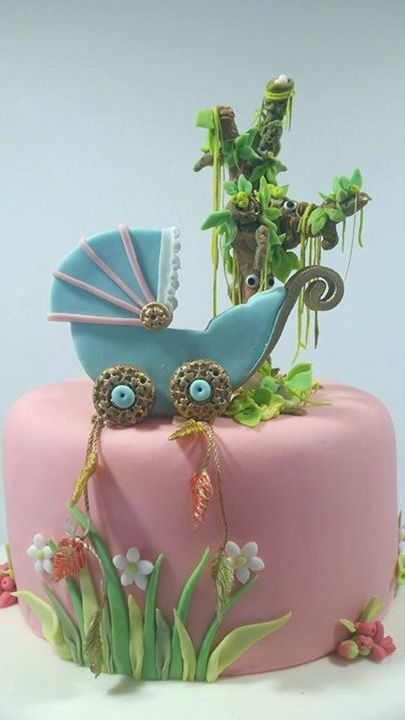 Enchanted Forest Baby shower cake