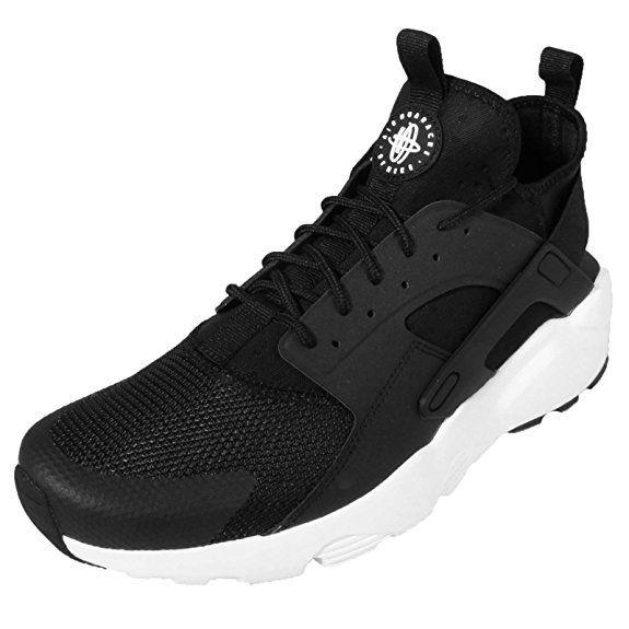 abbadf80af810 Amazon.com | Nike Men's Air Huarache Run Ultra, BLACK/WHITE ...