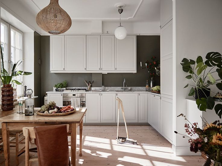 Big natural style kitchen