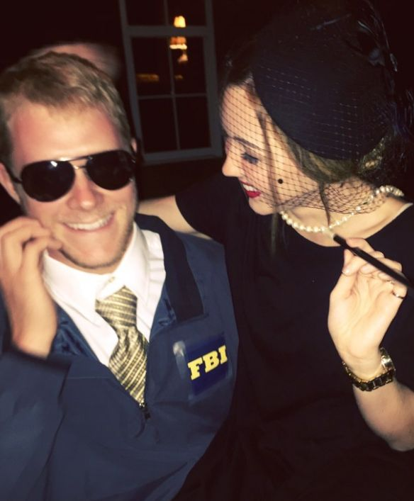 Burt Macklin and Janet Snakehole from Parks and Rec: | 26 Insanely Clever Halloween Costumes Every TV Lover Will Want