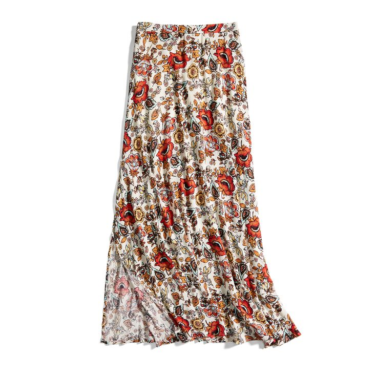 Stunning floral maxi skirt from Stitch Fix for summer 2017. #affiliate