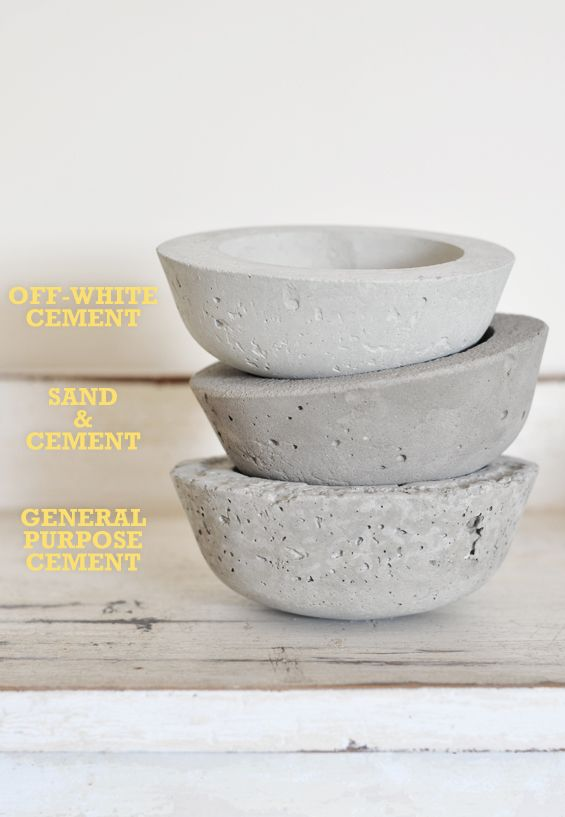 DIY Concrete Planters Using Different Types of Cement