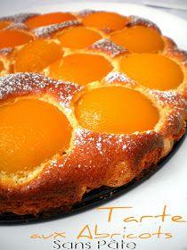 Tarte légère aux abricots sans pâte