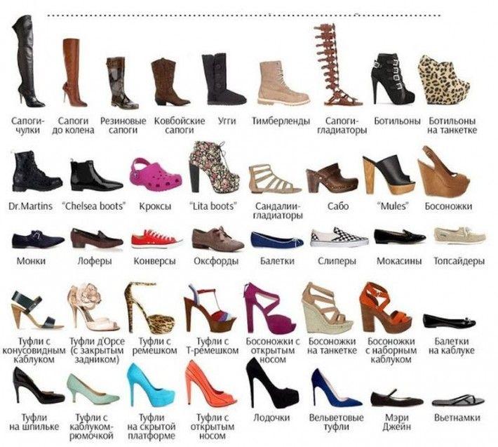 разновидности обуви