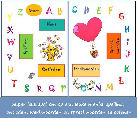 taal spel Bovenbouw, o.a. met spreekwoorden, werkwoordspelling, spelling en ontleden
