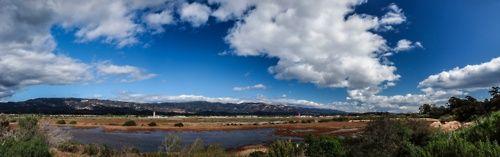 A panoramic view of the Santa Barbara Municipal Airport from UC Santa Barbara.