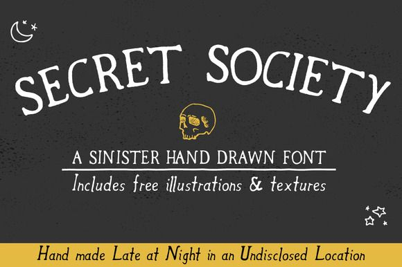 Secret Society Font + Bonus by Zach and Beth on Creative Market
