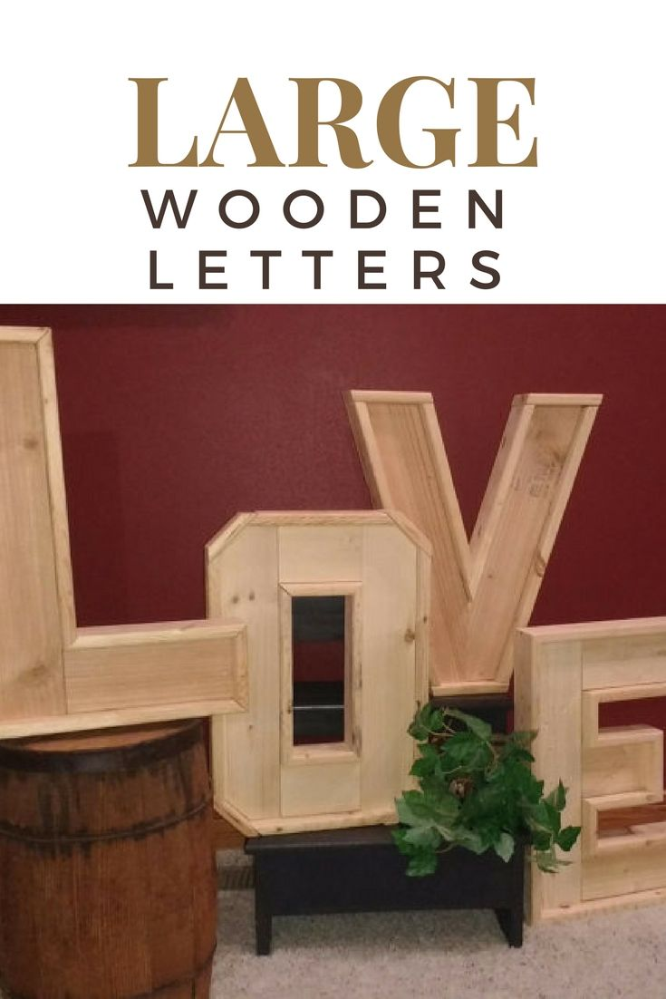 Large Wood Letters 3d Rustic Big Thick Wood Words Stained Or