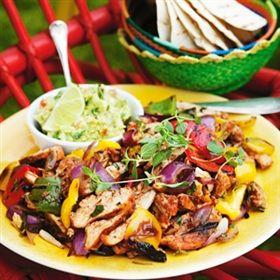 Fajitas med kyckling och guacamole