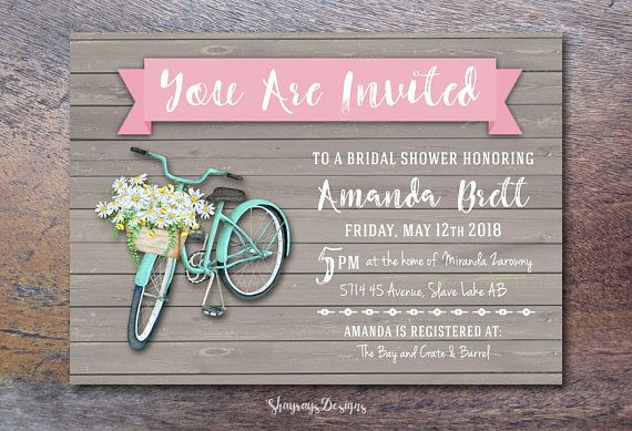THIS IS A DIGITAL ITEM. NO PHYSICAL ITEM WILL BE SENT  This spring-inspired printable Bridal Shower invitation is available in 3 sizes and features a lovely mix of both rustic and classic. Print this design on white cardstock to obtain the same look as the listing photo. The design