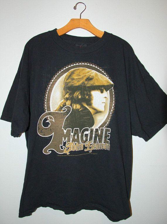 NOMAD YOUTH has the best vintage band tee selection. JOHN LENNON Imagine band tee vintage band t shirts by NomadYouth, $25.00 #johnlennon