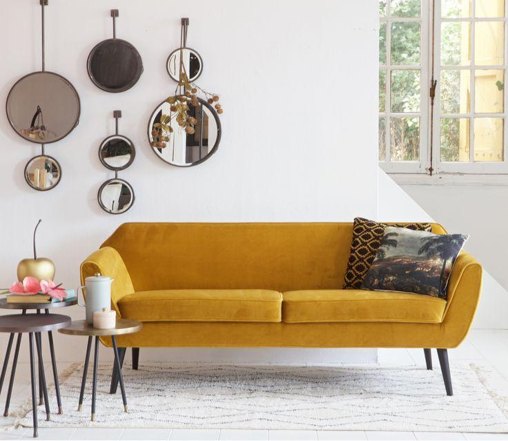 WOOOD Rocco 2,5 zits sofa velvet oker