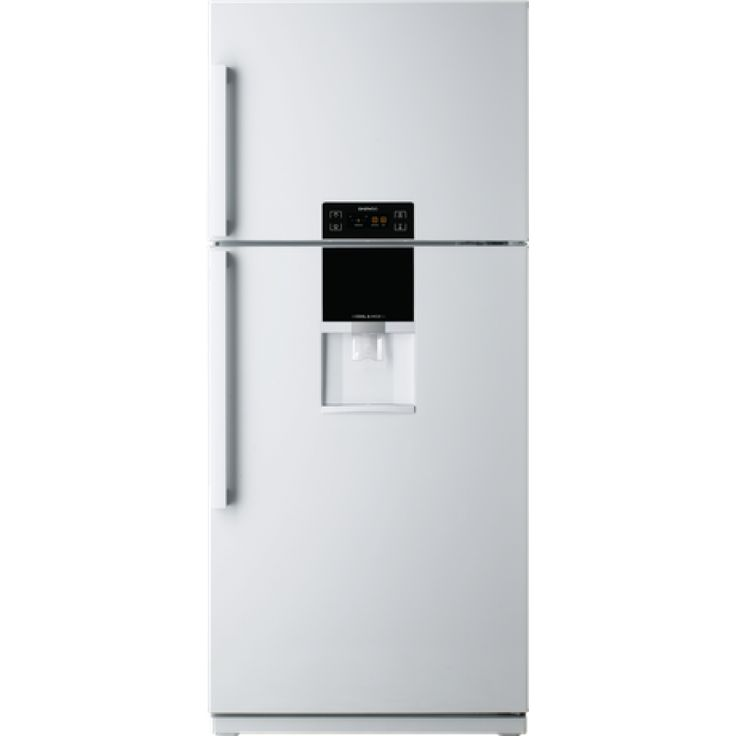 525L Fridge Freezer by Daewoo (FN-510DW)   Features:  Water Dispenser - No plumbing required Multi-Flow Cooling Temperature Control Buttons 3 x Safety Glass Shelves Interior Light Large Door Wide Fruit & Vegetable Crisper 100% CFC Free Frost Free Anti-Biotic Deodoriser Height Adjustable Feet