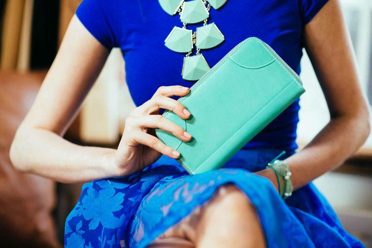 Mint Green Leather Wallet www.bettyandbetts.com