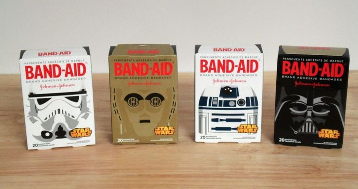 Star Wars Collector Bandaids (4) 20 Count Boxes  #BANDAID