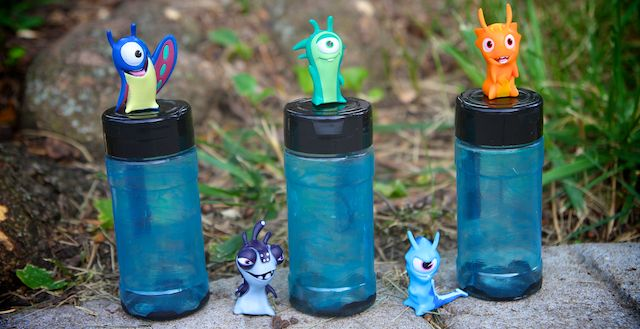 DIY Slugterra cases! Tint plastic EASY with Mod Podge and food coloring! This could also be a fun idea for your little spy or collector! They could carry their favorite trinkets around or collect fun things on their missions!!~Life Sprinkled With Glitter