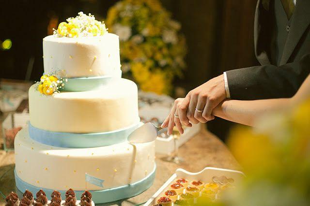 Casamento em azul e amarelo | blue and yellow wedding | perfect wedding cake