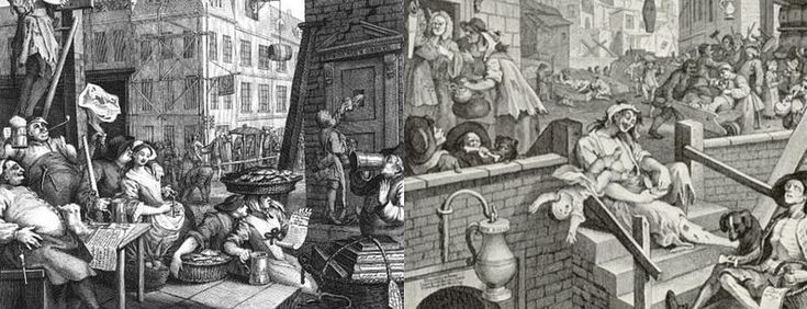 Gin Lane and Beer Street - William Hogarth