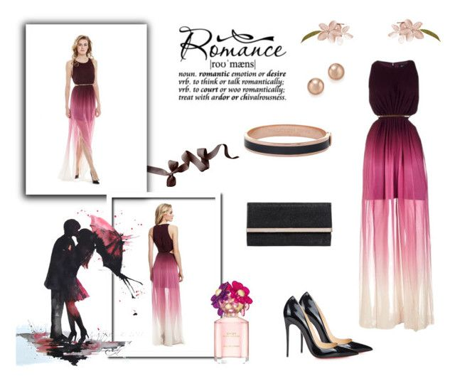 """""""Romantic Style"""" by desiresinstyle on Polyvore featuring moda, Marciano, Christian Louboutin, Jimmy Choo, Halcyon Days, Bloomingdale's e Marc Jacobs"""