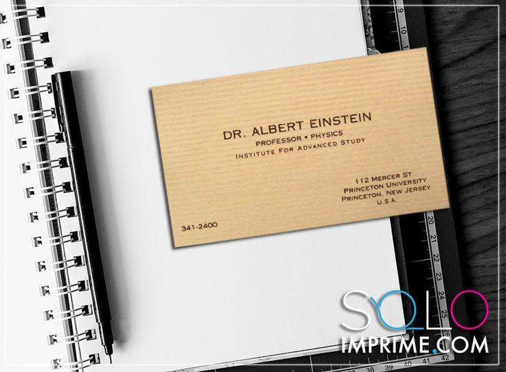 Tarjeta de Presentación, Originales, famosos, Albert Einstein