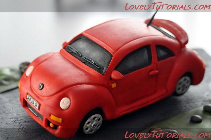 Volkswagen Beetle car cake how to