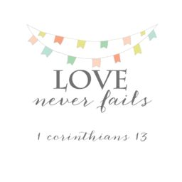 love never fails free printable banner.png Info - Box