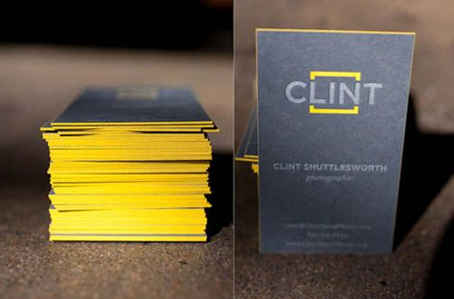 yellow edge  Photographer Business Card_11