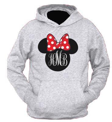 Disney Customized Printed Hooded Sweatshirts Minnie ...