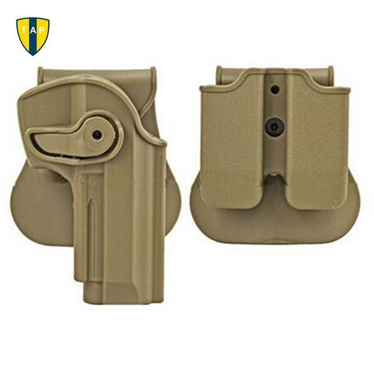 Polymer Retention Roto Tactical Gun Holster M92 Retention Holster for Beretta 92 Llama 82 Pistols Double Magazine Pouch.