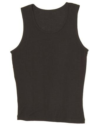 Ruskovilla Basic Black Tank - Organic Wool/Silk