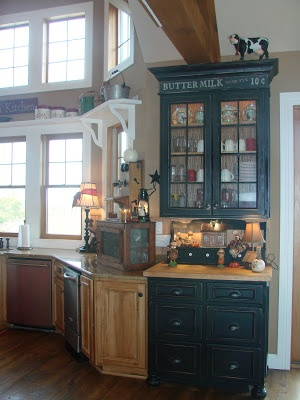 Cabinet to look like furniture love give thanks with for Kitchen cabinets that look like furniture