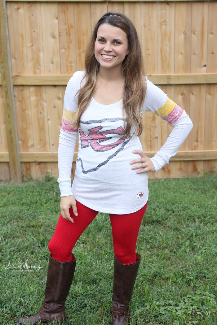 Ready for football season? Check out my KC Cheifs game day style. #MyNFLFanStyle #CleverGirls