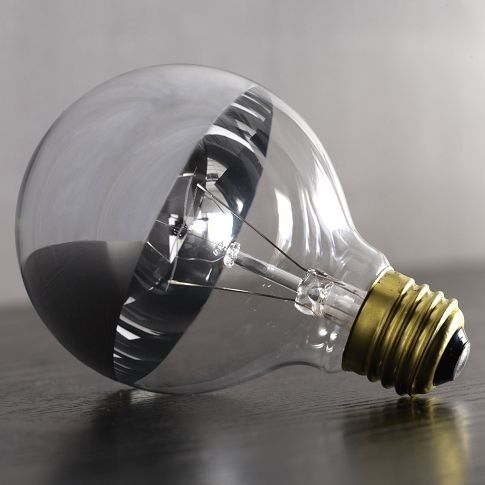 These chrome light bulbs are a must for any exposed-bulb light fixture.