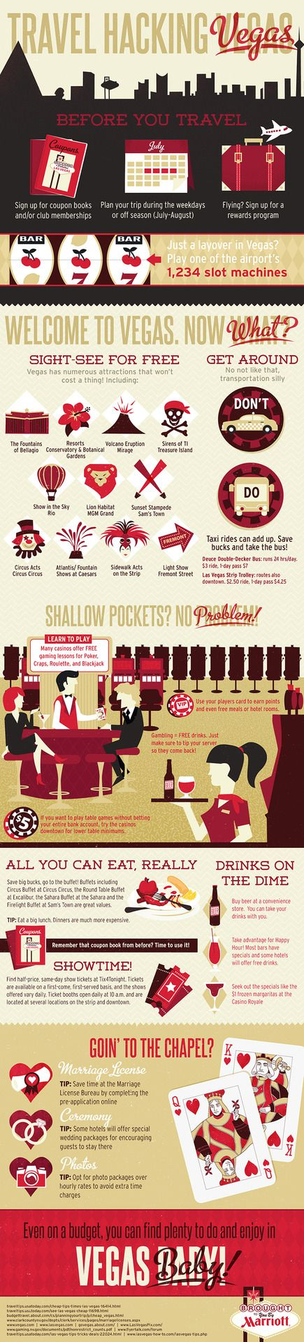 Vegas, Baby! A guide to travel hacking Sin City Infographic