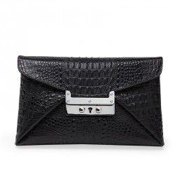 Clutch, Croco & Cool <3 Nirvana black silver clutch from www.leowulff.com #leowulff