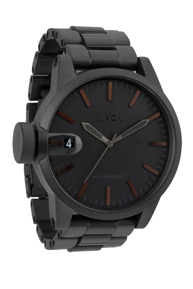 nixon - the chronicle ss watch (matte black / dark tortoise) - Nixon | 80's Purple